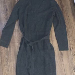 Gray ribbed, belted sweater dress sz XL
